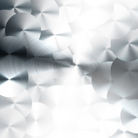 brushed: Brushed metal background with machine tools pattern style. Stock Photo