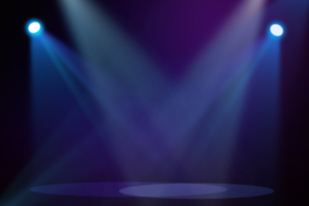 blue violet bright: Purple  Blue stage background Stock Photo