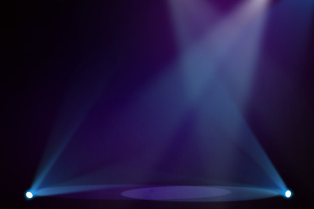 BluePurple stage background Stock Photo