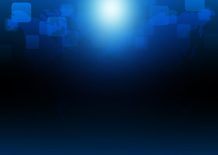 Abstract blue technology background Stock Photo
