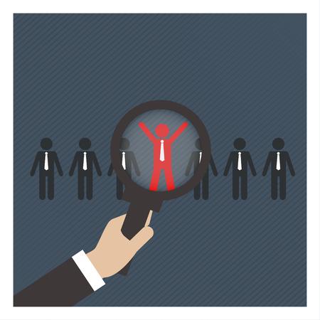 puesto de trabajo: Búsqueda de empleo Career Contratación Oportunidad, concepto de negocio Foto de archivo