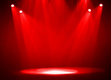 Red stage light background