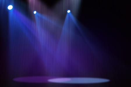 stage decoration abstract: Purple  Blue stage background Stock Photo