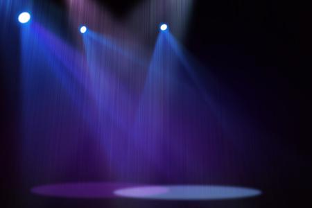 Purple  Blue stage background Standard-Bild