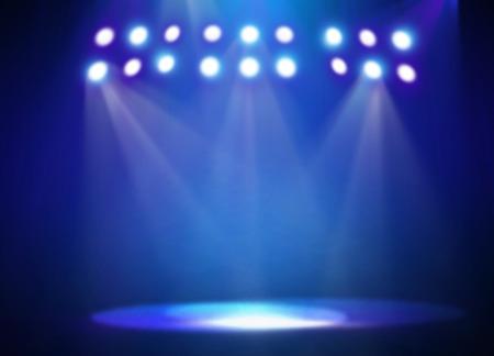 Blue stage light background Standard-Bild