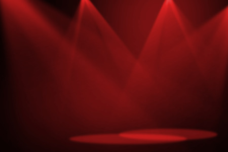 stage: Red stage light background