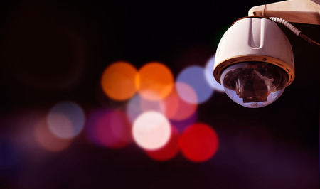 security technology: Security camera with outdoor background