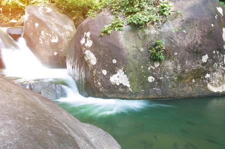 mao: Close up of Khao Cha Mao waterfall at Rayong Thailand