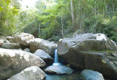 cha: Khao Cha Mao waterfall at Rayong Thailand