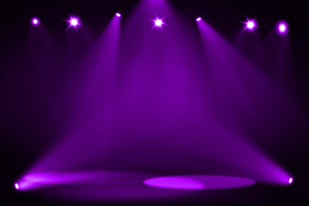stage decoration abstract: Purple stage background