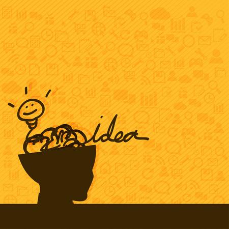pensando: Concepto de pensar para conseguir idea inspiraci�n