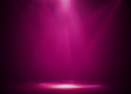 fun background: Pink stage background Stock Photo