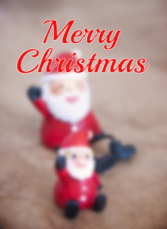 clause: Merry Christmas design with Santa clause background