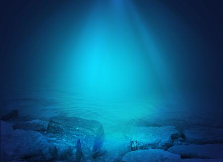 blue ray: Underwater background