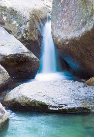 cha: Close up of Khao Cha Mao waterfall at Rayong Thailand
