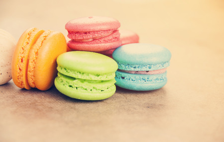for tea: Sweet macarons for tea break