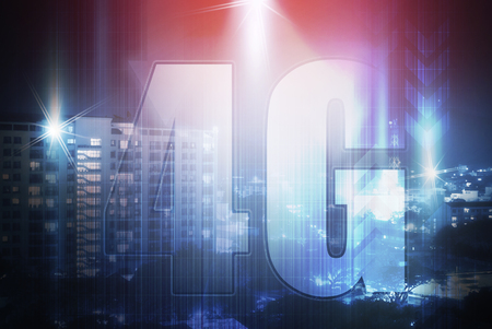 high speed internet: 4G high speed internet on abstract technology background