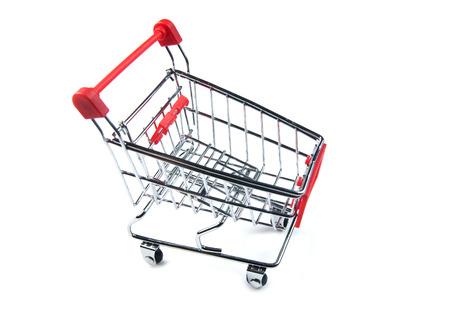 e commerce: Shopping cart isolated on white background