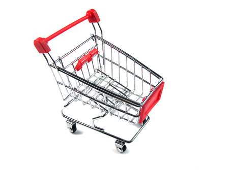 Shopping cart with sale and marketing delivery concept