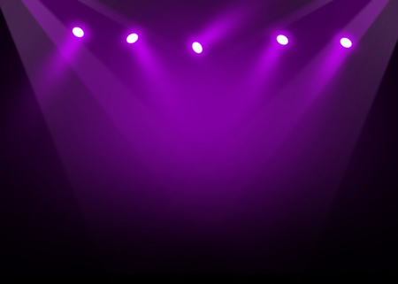 illuminated: The concert on stage background with flood lights