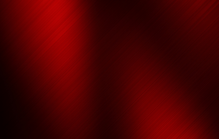Red brushed metal background.