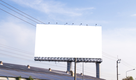 Blank billboard with white space background for advertisement.