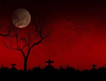 Full moon with Halloween background Reklamní fotografie