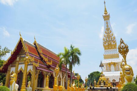 Wat Phra That Phanom at Nakorn pranom provience, from North EastThailand Фото со стока