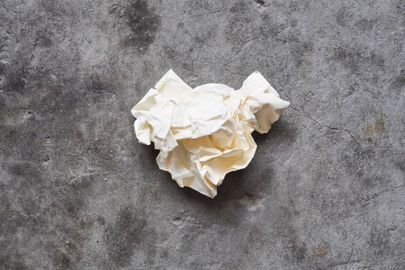 Crumbling paper for text on loft cement wall background