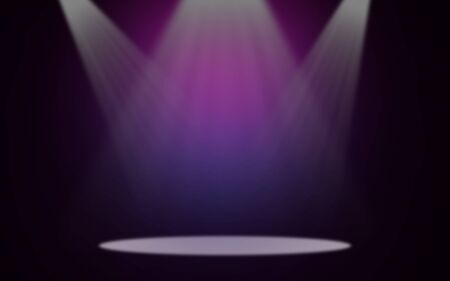 Koncert na tle sceny z powodziowymi światłami
