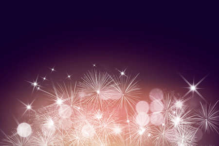 Fireworks with copy space and elegant background for Christmas and New Year.