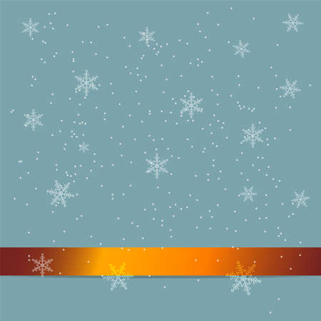 Abstract Christmas background with gold ribbon and snowflake fallowing in winter new year season Фото со стока