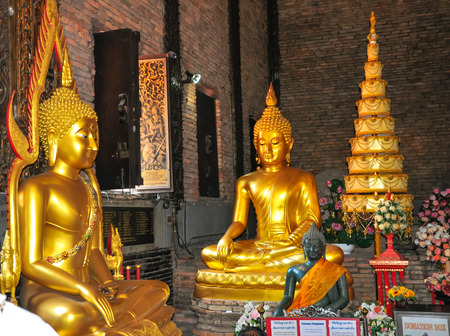 The Beautiful of Wat Phrathat Pha-Ngao is public temple in Chiang san, Chiang Rai,Thailand.