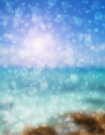 Colorful of soft and blurred bokeh  background. photo