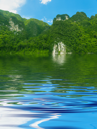 rippled: Beautiful Surface Rippled of water and nature background Stock Photo
