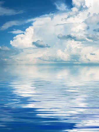 rippled: Beautiful Surface Rippled of water and sky background