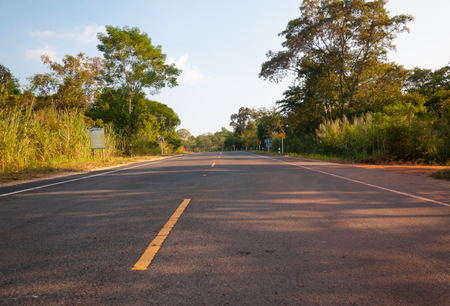 both sides: Landscape of Country Road with Naturally, both sides.