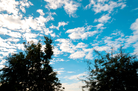 The atmosphere of White Clouds and Blue Sky background