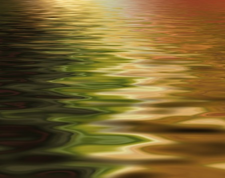 Abstract beautiful soft and blurred colorful surface of water rippled background and reflection