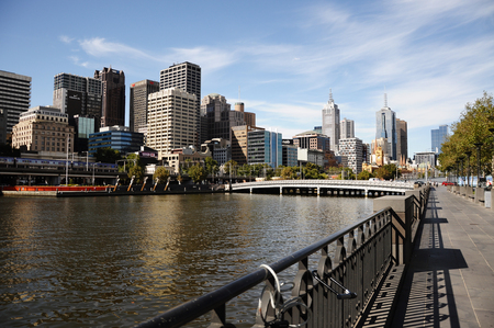 southbank: City view from Southbank in Melbourne, Australia