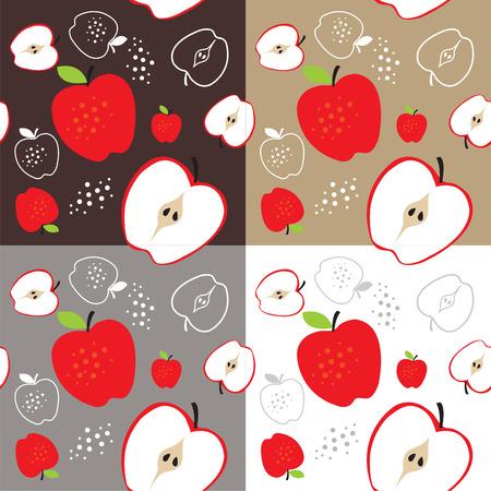 repeatable: apple fruit theme seamless template illustration Illustration