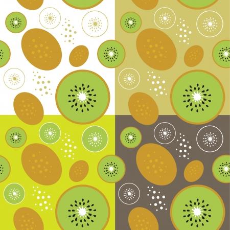 kiwi fruit: Kiwi tema de la fruta perfecta ilustraci�n de fondo de plantilla