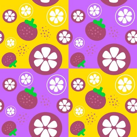mangosteen: mangosteen fruit theme background illustration template seamless illustration