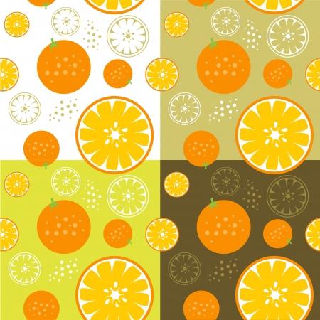 repeatable: orange fruit  theme seamless background illustration template Illustration