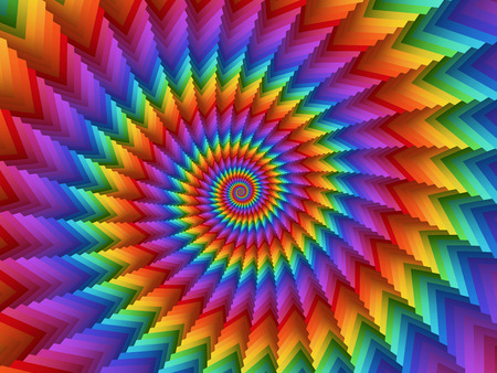 Psychedelic Rainbow Spiral Background