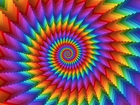 Psychedelic sfondo arcobaleno a spirale