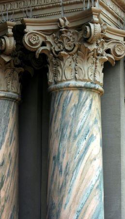 Marble Column on old building. Buffalo ,New York