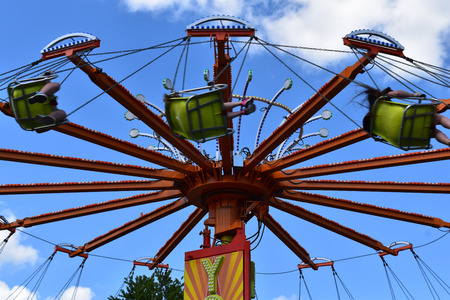 Swing ride at the carnival Stock Photo