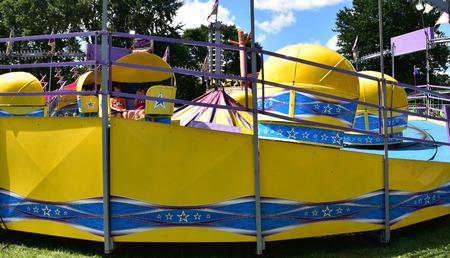 Spinning carnival ride Stok Fotoğraf