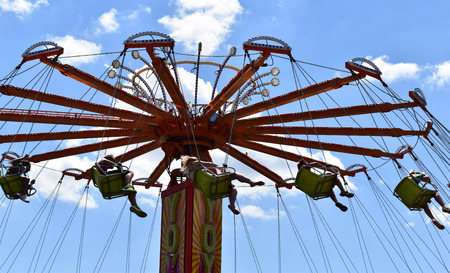 Swing ride at the carnival Stok Fotoğraf